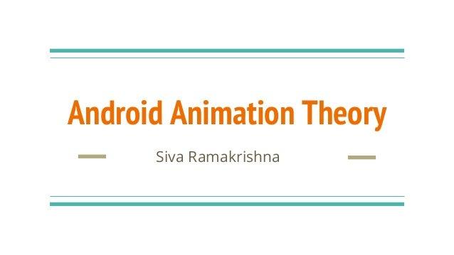 Android Animation Theory Siva Ramakrishna