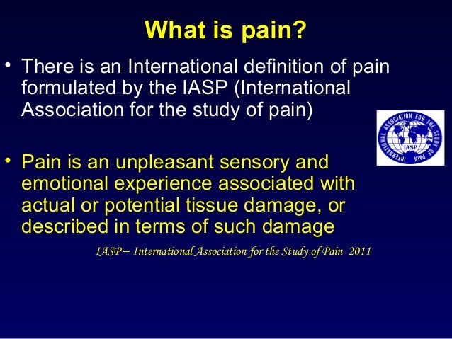 operational definition for pain A simple example that shows the relationship between a conceptual definition and an operational definition : if the concept is weight, an operational definition could be the weight of an object.