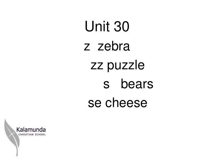 Unit 30z zebra zz puzzle   s bears se cheese