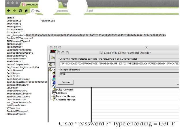 Cisco Password crack