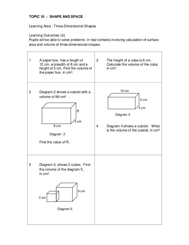 Y6 Topic 10 Shape  U0026 Space