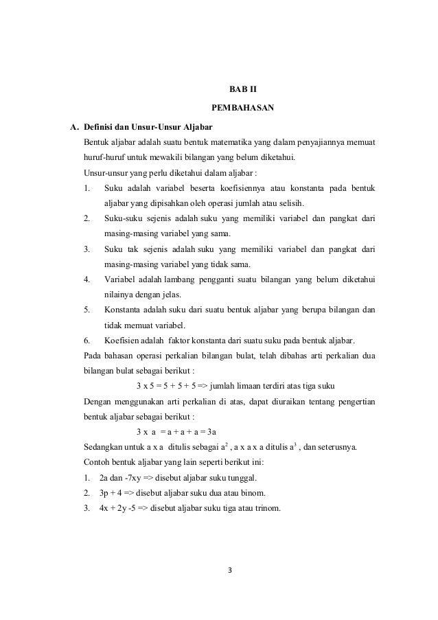 Makalah Matematika Smp Kelas 7 Semester 2 | Bagikan Kelas