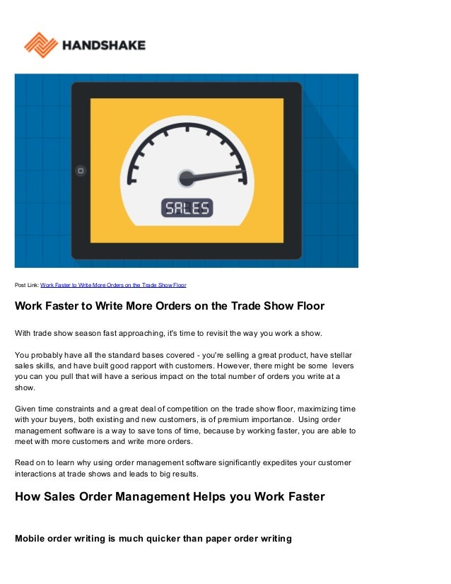 how to write a work order