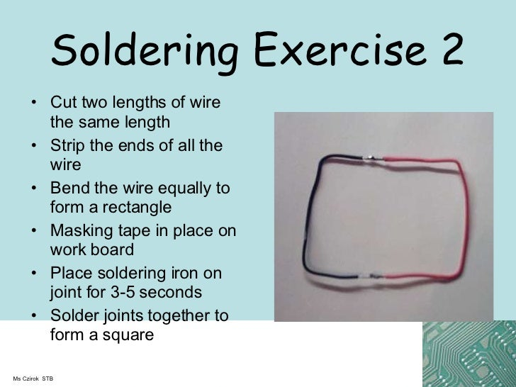 Y8 Soldering Exercises And Safety