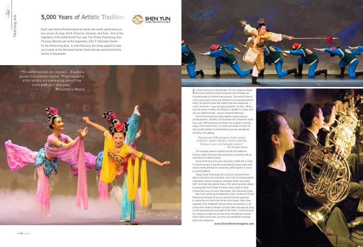 5,000 Years of Artistic Tradition Performing Arts                                                      Each year Divine Pe...