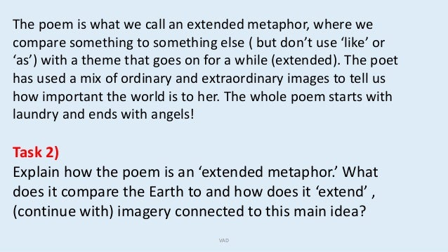 How To Write Extended Metaphor Poems