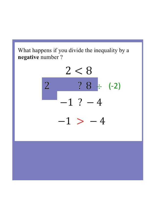 what happens when you divide two negative numbers