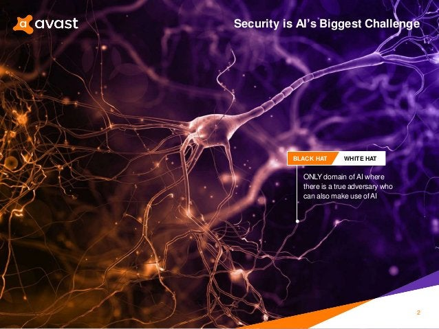 ONLY domain of AI where there is a true adversary who can also make use ofAI BLACK HAT WHITE HAT Security is AI's Biggest ...