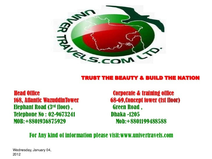 TRUST THE BEAUTY & BUILD THE NATIONHead Office                                 Corporate & training office168, Atlantic Wa...