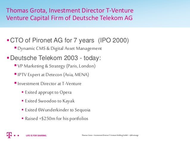 What investors are looking for...   A view from a Venture Capitalist Slide 2