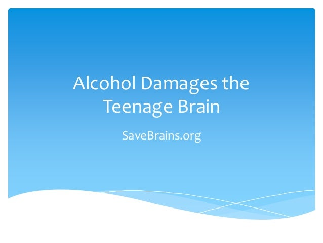 Alcohol Damages the Teenage Brain SaveBrains.org