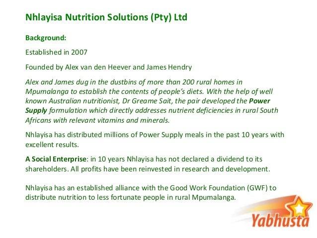 Yabhusta Power Supply Information Presentation Slide 2