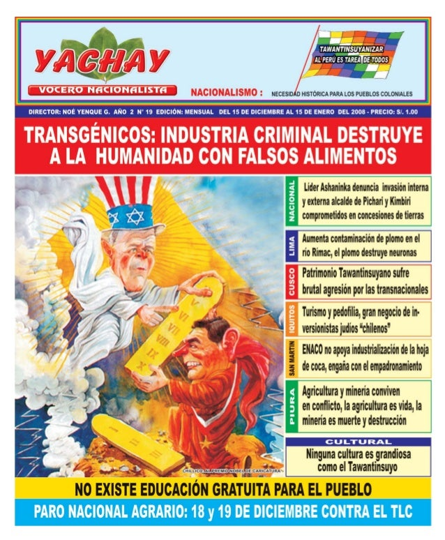 MensuarioDirector: Noé Yenque G.Editores:José Maurthua, Abraham LlenqueJefe de InformaciónVíctor Mamani MuñozImagen y Mark...