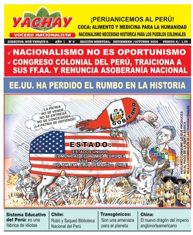 Actualidad             Editorial                                             CONGRESO COLONIAL PERUANO TRAICIONA A SUS    ...