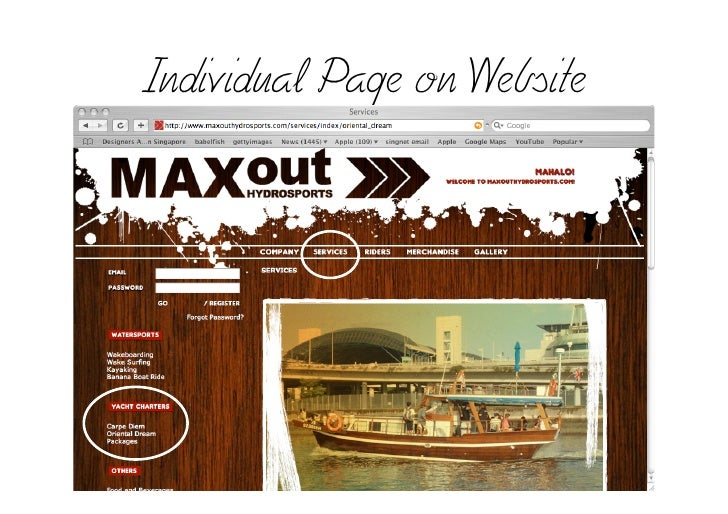 Individual Page on Website