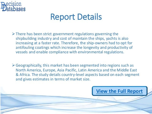 Focus On Yacht Coatings Market Research Report 2014 to 2021