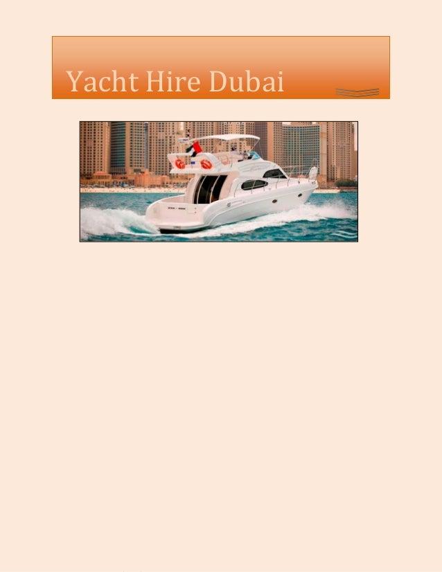 Yacht Hire Dubai