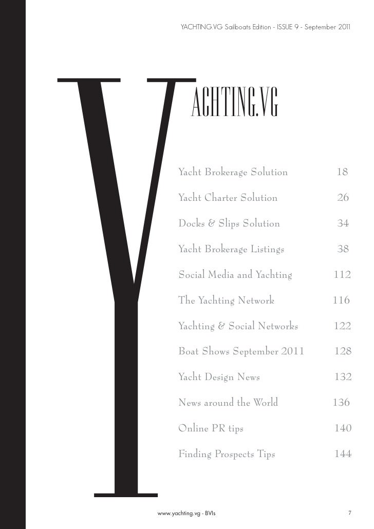 Magazine Yachting.vg Sailboats Edition September 2011