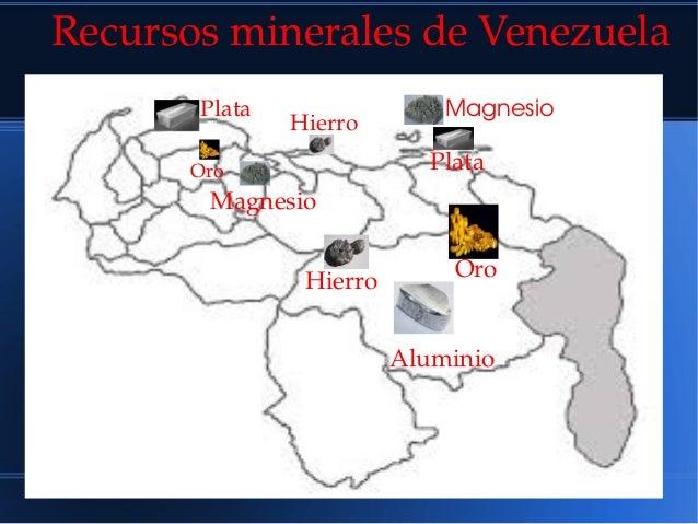 Oro Oro Hierro Hierro Plata Plata Magnesio Magnesio Aluminio RecursosmineralesdeVenezuela