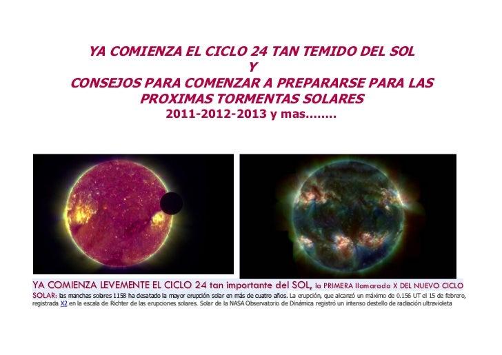 YA COMIENZA EL CICLO 24 TAN TEMIDO DEL SOL                                    Y              CONSEJOS PARA COMENZAR A PREP...