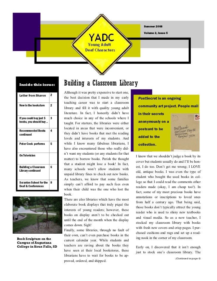Summer 2008                                                                                       Volume 2, Issue 5      I...