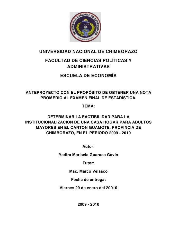 1977390-385445<br />UNIVERSIDAD NACIONAL DE CHIMBORAZO<br />FACULTAD DE CIENCIAS POLÍTICAS Y ADMINISTRATIVAS<br />ESCUELA ...