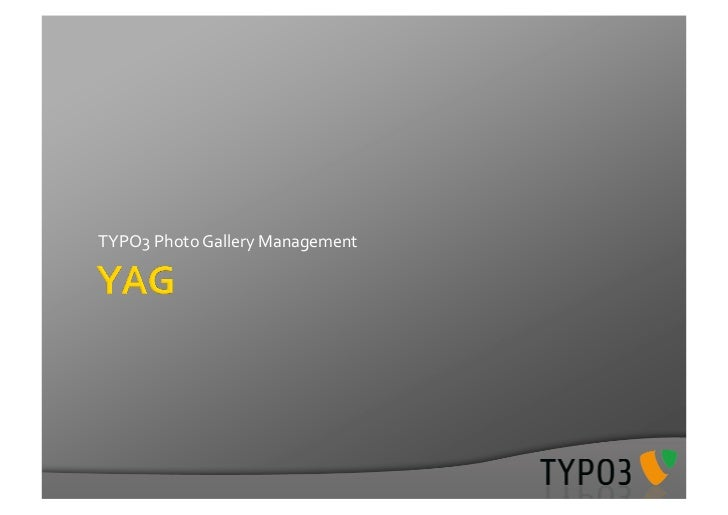 TYPO3	  Photo	  Gallery	  Management