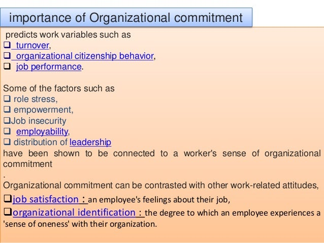 factors influencing employee affective commitment Workplace performance, worker commitment and loyalty workplace performance, worker commitment and factors influencing employee commitment and loyalty.