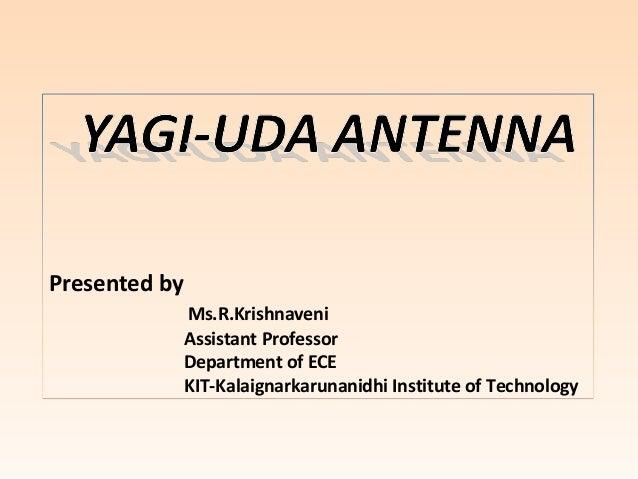 Yagi uda antenna