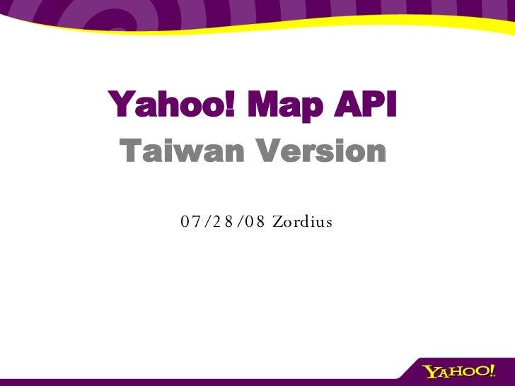 Yahoo! Map API Taiwan Version 06/04/09  Zordius