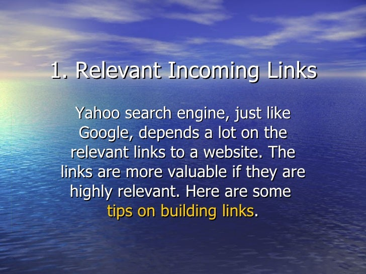 essay on yahoo search engine Below is an essay on my search experience with the yahoo search engine from anti essays, yahoo's tailored advertising and news content, e-mail and other related.