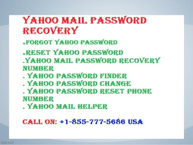 yahoo mail password finder