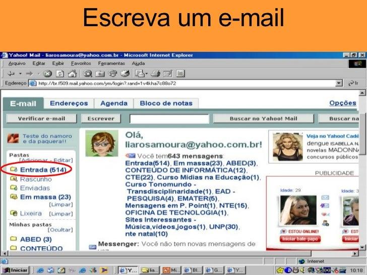 Escreva um e-mail