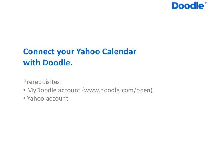 Doodle Yahoo Calendar integration