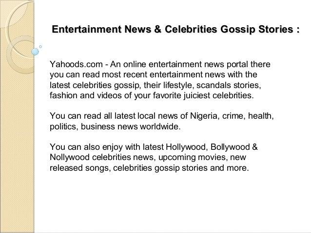Latest Entertainment News Online - yahoods com