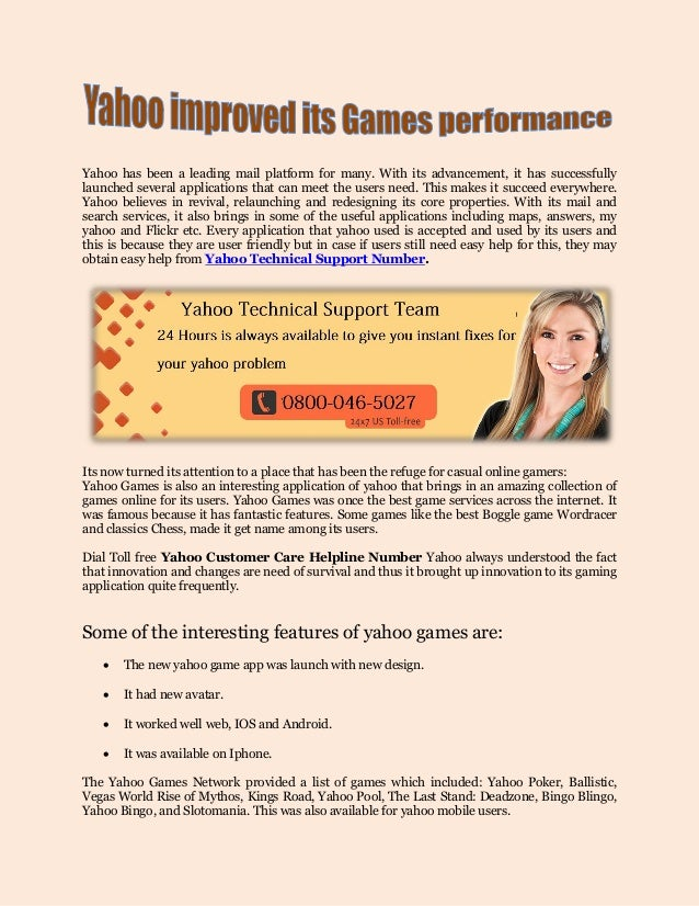 Yahoo Improved Its Games Performance