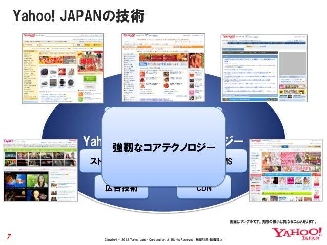 Yahoo! JAPANの技術                認証システム                                 課金システム           Yahoo! JAPANコアテクノロジー               ...