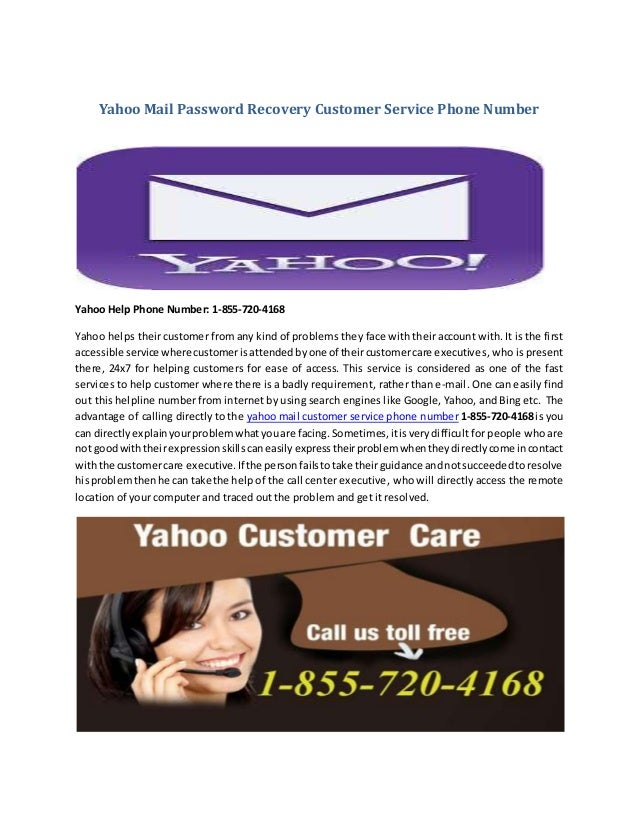 yahoo account recovery customer service number