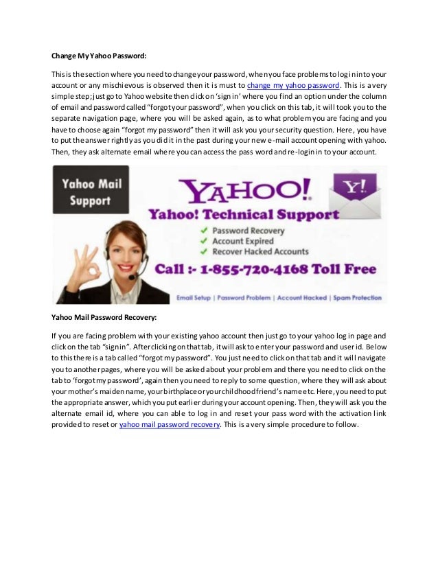 how to change recovery email in yahoo mail