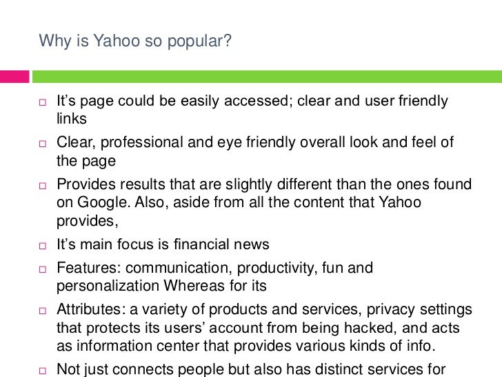 yahoo inc case study Access to case studies expires six months after purchase date publication date: may 24, 2013 in july 2012, marissa mayer was appointed chief executive officer (ceo) of yahoo.