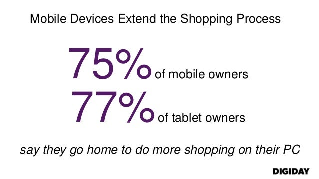 Mobile Devices Extend the Shopping Process75%of mobile owners77%of tablet ownerssay they go home to do more shopping on th...