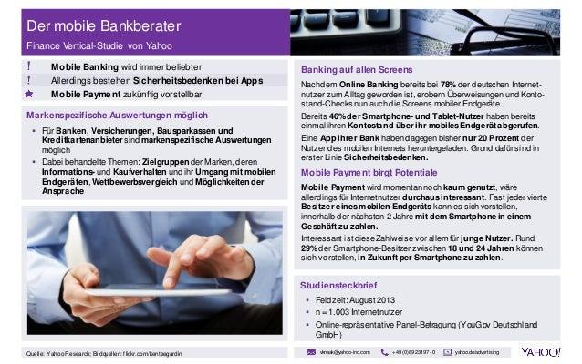 Der mobile Bankberater Finance Vertical-Studie von Yahoo Mobile Banking wird immer beliebter Allerdings bestehen Sicherhei...
