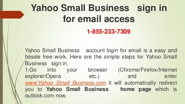 Yahoo Small Business Toll Free Number 1 855 233 7309, Yahoo