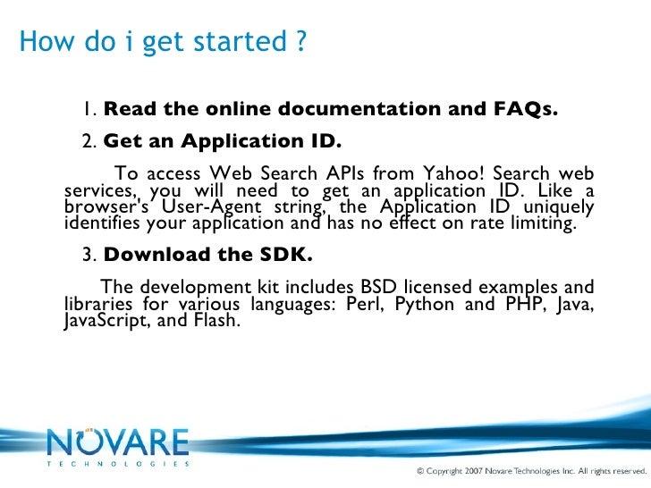 Yahoo Web Search Api