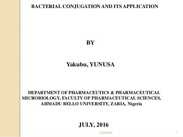 conjugation microbiology
