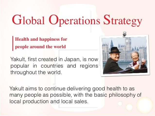 """yakult strategy Yakult has built unique operating model with female salesforce called """"yakult ladies"""" and i am looking to help her optimize her go-to-market strategy."""