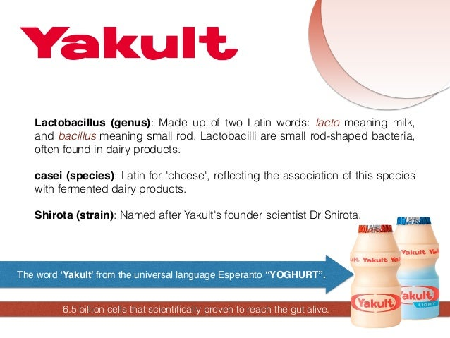 yakult swot This process is very similar to the managerial swot analysis, the only  could  be held against the yakult campaign, plus the imc campaign had to be.