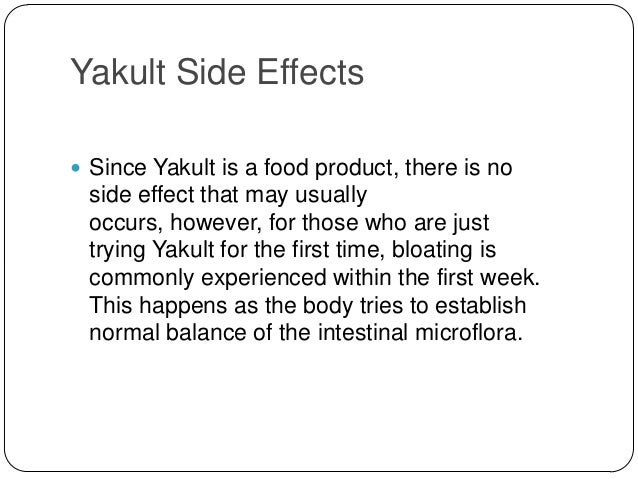 Yakult Probiotic Drink Side Effects