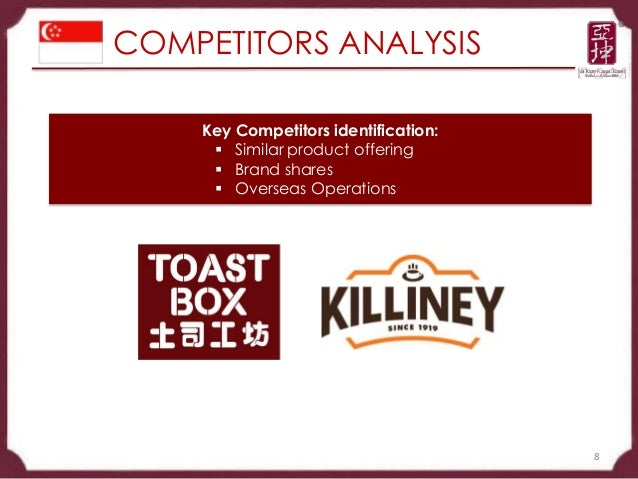 swot analysis ya kun Breadtalk finalreport uploaded by  14 62 swot analysis of bakery  to traditional coffee outlets such as ya kun kaya toast and wang jiao 50 overall.