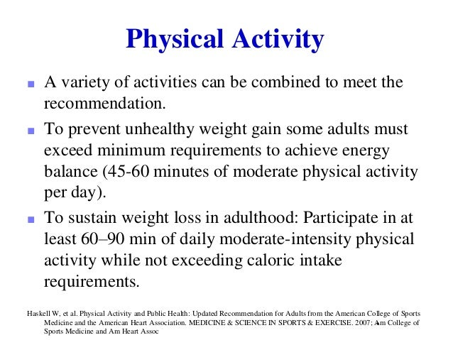 acsm guidelines for weight loss